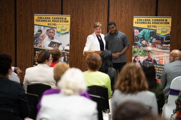 Atlantic Track's Angela Massey Praises Employee Hired from CCTE Program